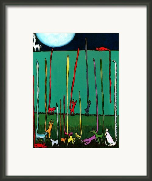 Silly Tall Tales - Er - Tails Framed Print By Angela Treat Lyon