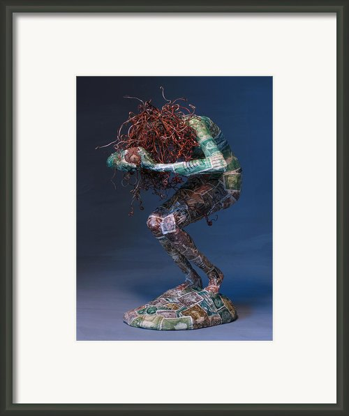 Silvan Offering A Sculpture By Adam Long Framed Print By Adam Long