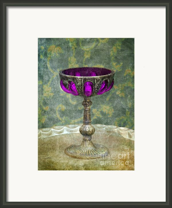 Silver Chalice With Jewels Framed Print By Jill Battaglia