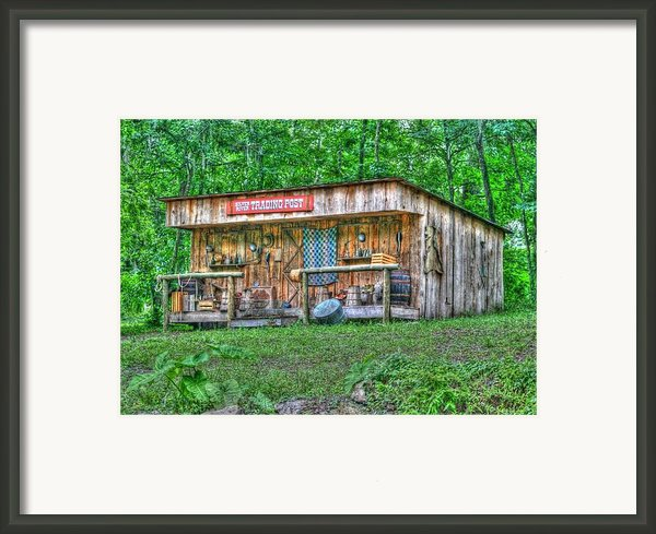 Silver River Trading Post Framed Print By Myrna Bradshaw