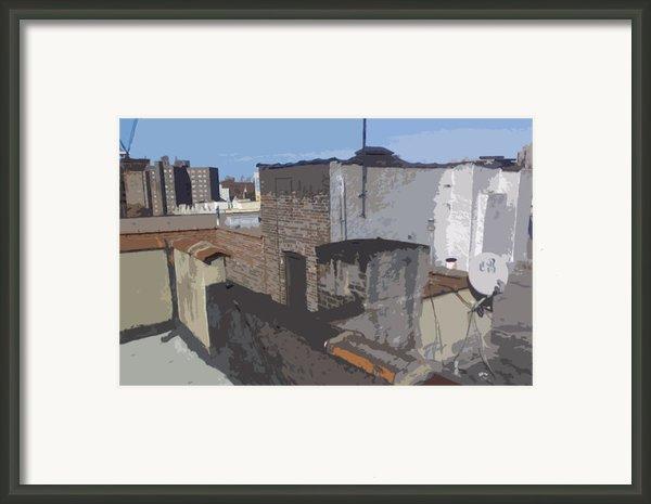 Silver Rooftop 1 Framed Print By Benjamin Kline