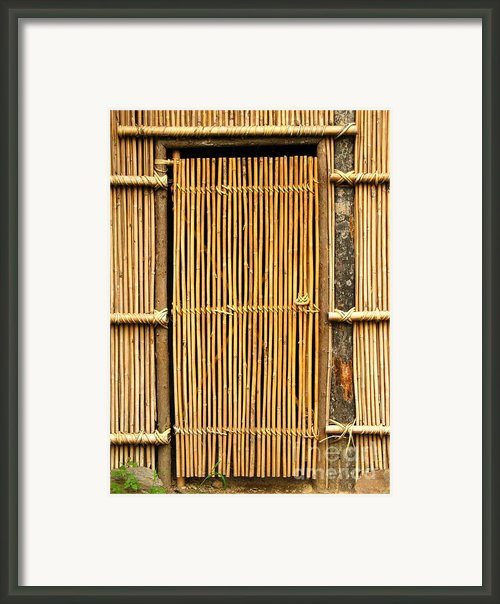Simple Bamboo Door Framed Print By Yali Shi