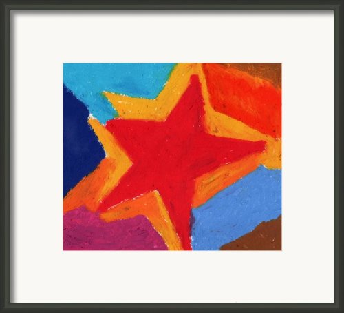 Simple Star-straight Edge Framed Print By Stephen Anderson