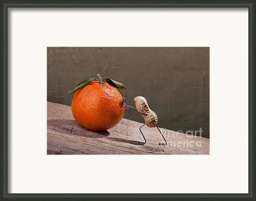 Simple Things - Sisyphos 01 Framed Print By Nailia Schwarz
