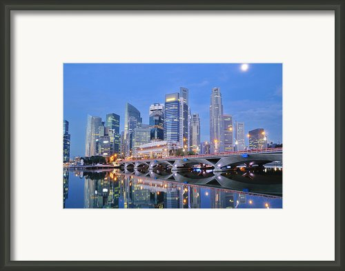 Singapore Central Business District Skyline Framed Print By Photo By Salvador Manaois Iii