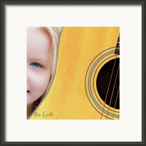 Singer Songwriter Framed Print By Bob Orsillo
