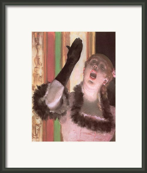 Singer With A Glove Framed Print By Edgar Degas