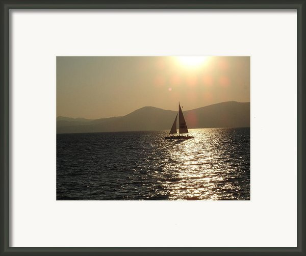 Single Sailboat Framed Print By Silvie Kendall