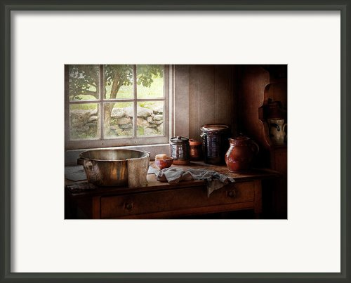 Sink - The Morning Chores Framed Print By Mike Savad