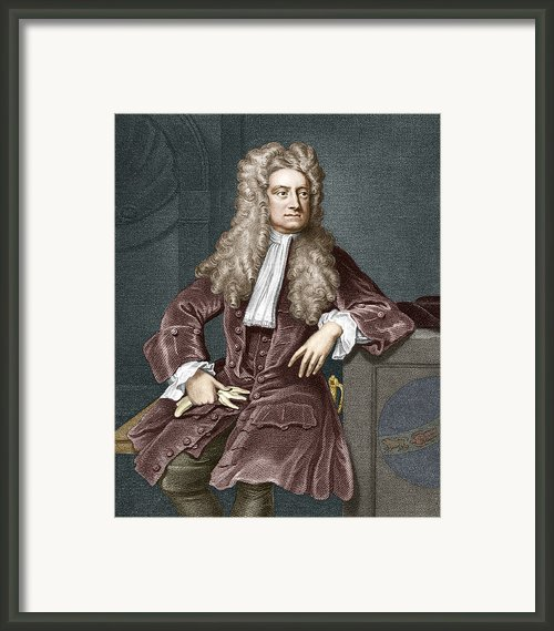 Sir Isaac Newton, British Physicist Framed Print By Sheila Terry