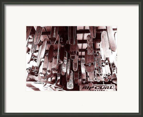 Skate Shop Framed Print By Jame Hayes
