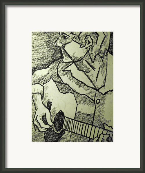 Sketch - Guitar Man Framed Print By Kamil Swiatek