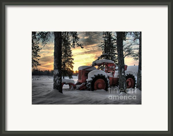 Skidder Sunrise Framed Print By Heather  Rivet