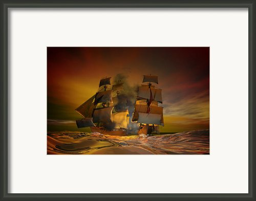 Skirmish Framed Print By Carol And Mike Werner