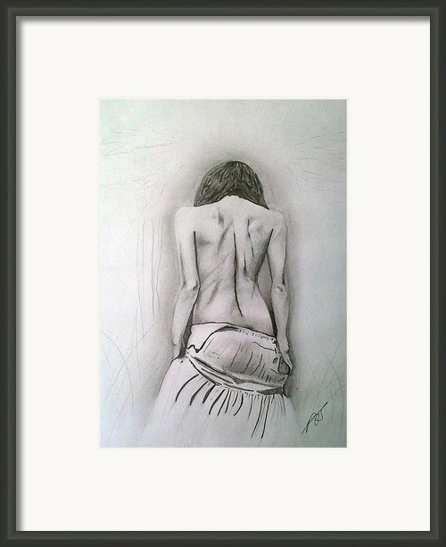 Skirt Ii Framed Print By Paula Steffensen