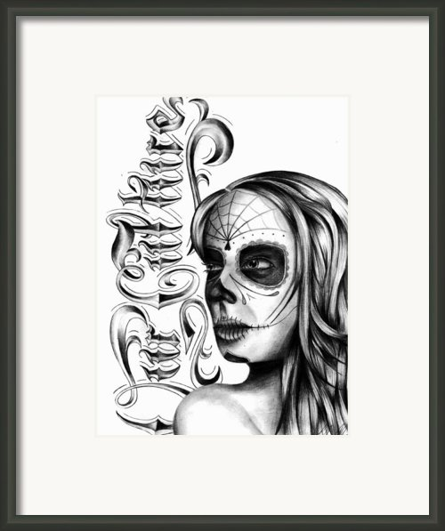 Skull Face Framed Print By Brandon Hurley