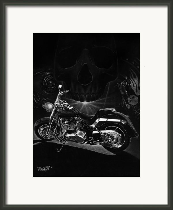 Skull Harley Framed Print By Tim Dangaran