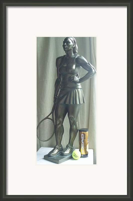 Skupture Tennis Player Framed Print By Zlatan Stoilov
