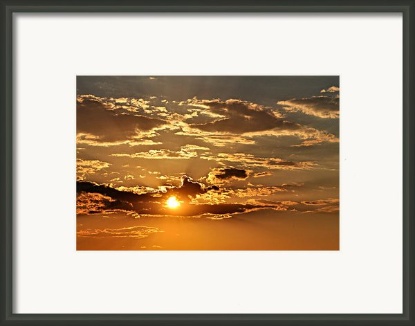 Sky Ablaze 1 Framed Print By Marty Koch