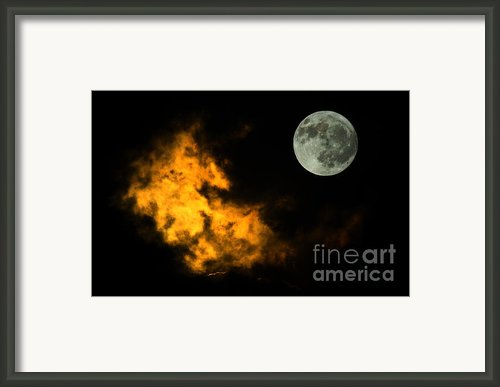 Sky And Moon Framed Print By Odon Czintos