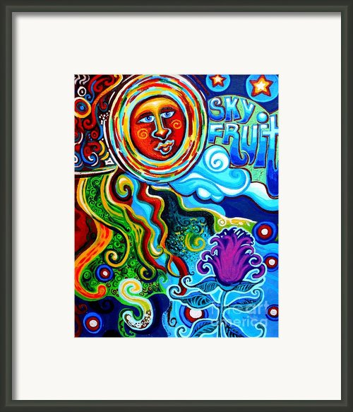 Sky Fruit Framed Print By Genevieve Esson