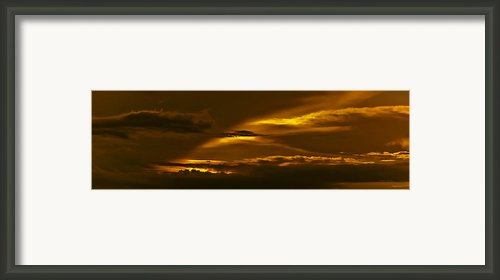 Sky Of Golden Fleece Framed Print By Digiart Diaries By Vicky Browning