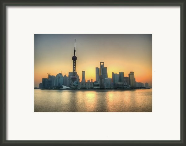 Skyline At Sunrise Framed Print By Photo By Dan Goldberger