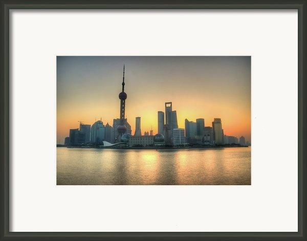 Skyline At Sunrise Framed Print By Photo By Dan Goldberger