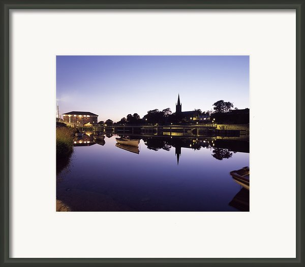 Skyline Over The R Garavogue, Sligo Framed Print By The Irish Image Collection
