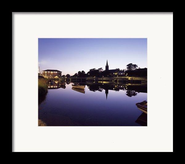 Skyline Over The R Garavogue, Sligo Framed Print By The Irish Image Collection
