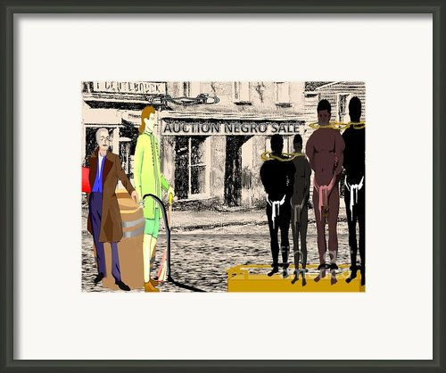 Slave Auction Framed Print By Belinda Threeths