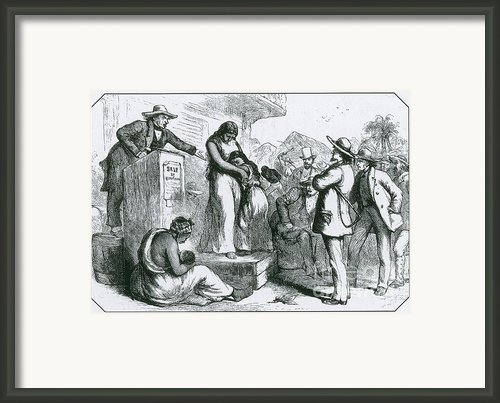 Slave Auction Framed Print By Photo Researchers