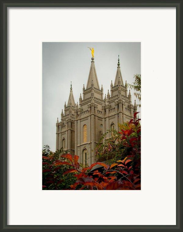 Slc Temple Angle Framed Print By La Rae  Roberts