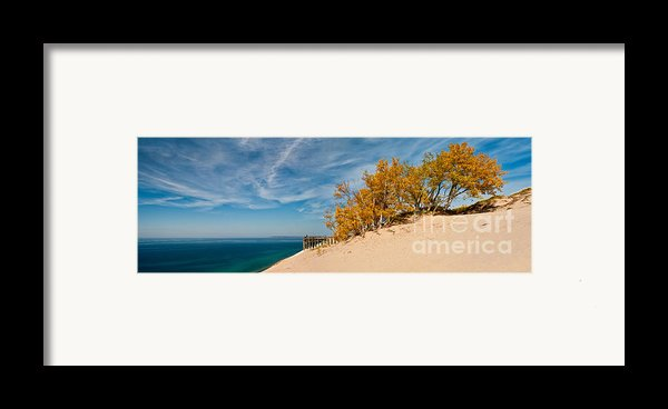 Sleeping Bear Overlook Framed Print By Larry Carr