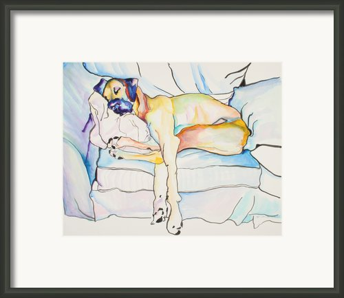 Sleeping Beauty Framed Print By Pat Saunders-white