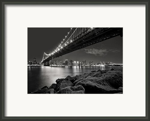 Sleepless Nights And City Lights Framed Print By Evelina Kremsdorf