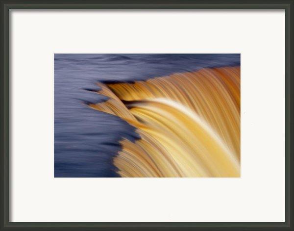 Slow Motion Waterfall Framed Print By Romeo Koitmae