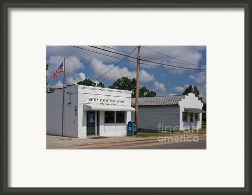 Small Town Post Office Framed Print By Will & Deni Mcintyre