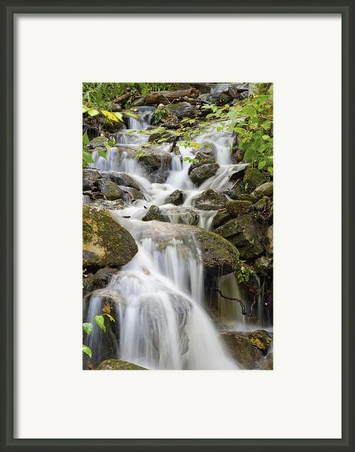 Small Waterfalls And Brook West Bolton Framed Print By David Chapman