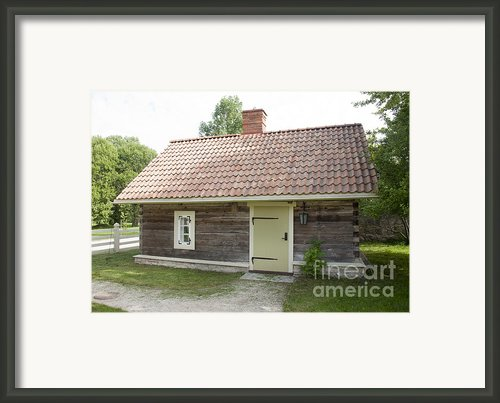 Small Wood Building Framed Print By Jaak Nilson