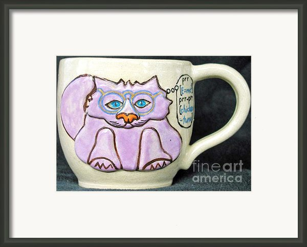 Smart Kitty Mug Framed Print By Joyce Jackson