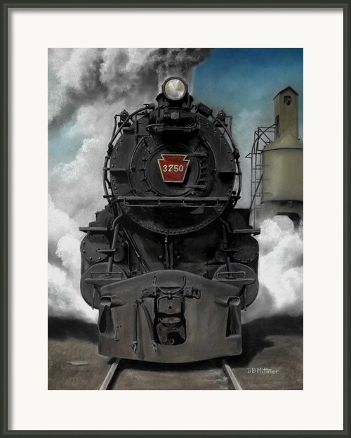 Smoke And Steam Framed Print By David Mittner