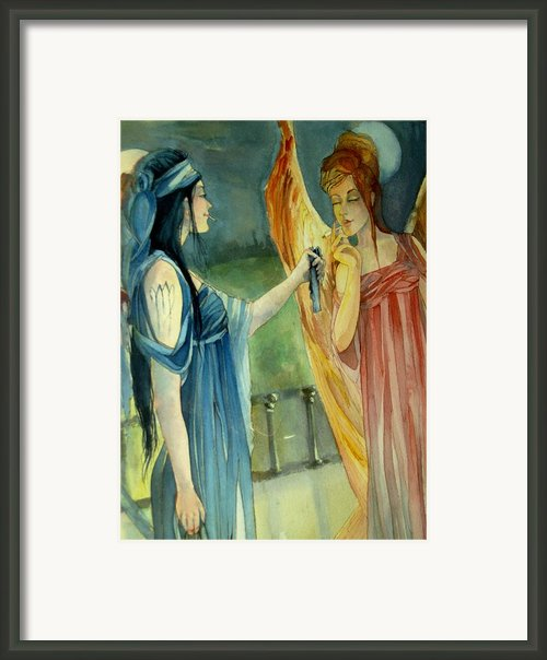 Smoking Angels Framed Print By Jackie Rock
