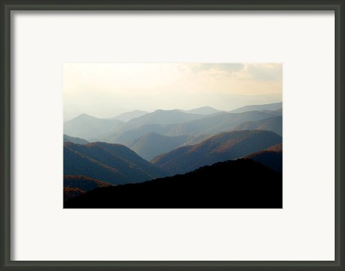 Smoky Mountain Overlook Great Smoky Mountains Framed Print By Rich Franco
