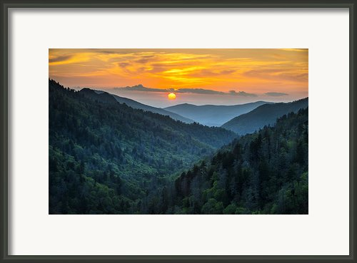 Smoky Mountains Sunset - Great Smoky Mountains Gatlinburg Tn Framed Print By Dave Allen
