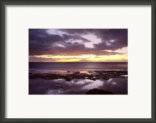 Smooth Purple Sunset Framed Print By Quincy Dein - Printscapes