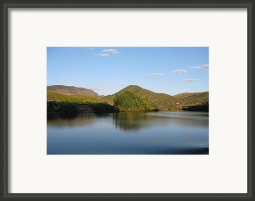 Smooth Sailing On The Douro Framed Print By Arlene Carmel