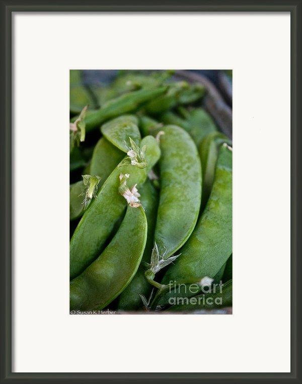 Snap Peas Please Framed Print By Susan Herber