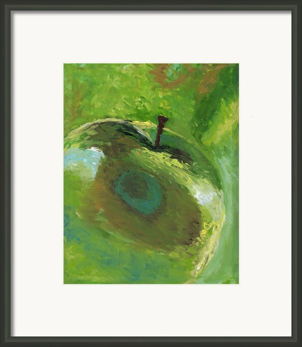 Snazzy Apple Framed Print By Davis Elliott
