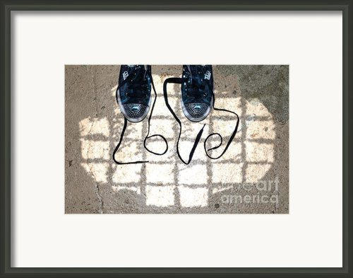 Sneaker Love 1 Framed Print By Paul Ward